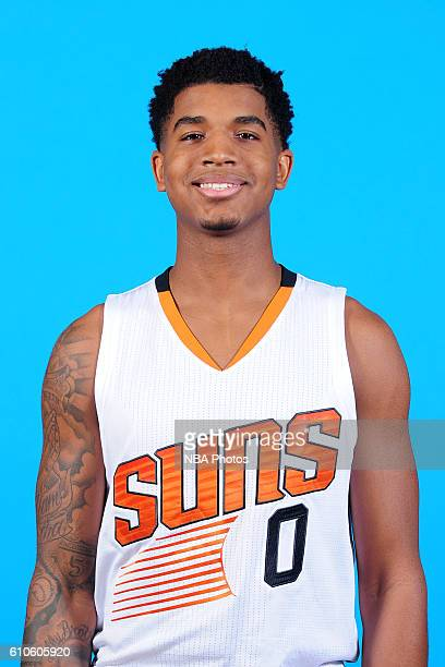 Marquese Chriss of the Phoenix Suns poses for a headshot during the 20162017 Phoenix Suns Media Day on September 26 at Talking Stick Resort Arena in...