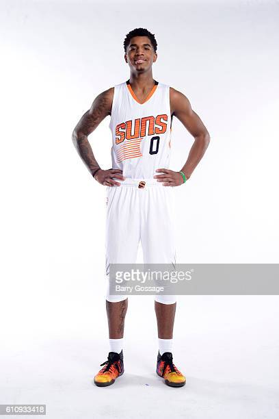 Marquese Chriss of the Phoenix Suns poses for a portrait at the 20162017 team media day on September 26 at Talking Stick Resort Arena in Phoenix...