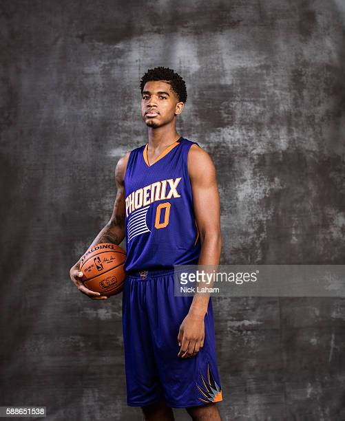 Marquese Chriss of the Phoenix Suns poses for a portrait during the 2016 NBA Rookie Photoshoot at Madison Square Garden Training Center on August 7...
