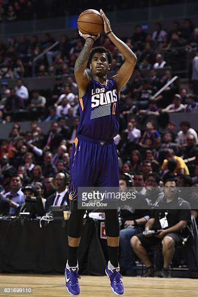Marquese Chriss of the Phoenix Suns shoots the ball against the San Antonio Spurs as part of NBA Global Games at Arena Ciudad de Mexico on January 14...