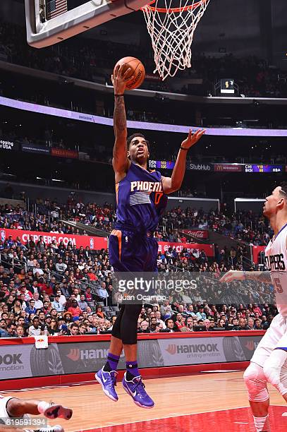 Marquese Chriss of the Phoenix Suns shoots the ball during a game against the LA Clippers on October 31 2016 at the STAPLES Center in Los Angeles...
