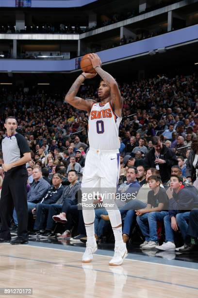 Marquese Chriss of the Phoenix Suns shoots the ball during the game against the Sacramento Kings on December 12 2017 at Golden 1 Center in Sacramento...