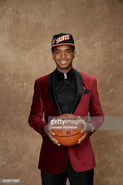 Marquese Chriss poses for a portrait after being drafted number nine overall to the Phoenix Suns during the 2016 NBA Draft on June 23 2016 at...