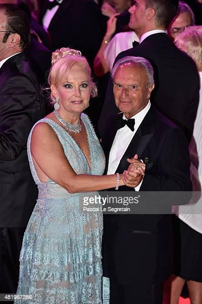 Marquess Roberta Gilardi and Dottore Donato Sestito danse during the Monaco Red Cross Gala on July 25 2015 in MonteCarlo Monaco