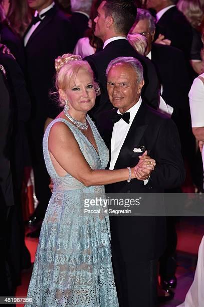 Marquess Roberta Gilardi and Dottore Donato Sestito danse during the Monaco Red Cross Gala on July 25, 2015 in Monte-Carlo, Monaco.
