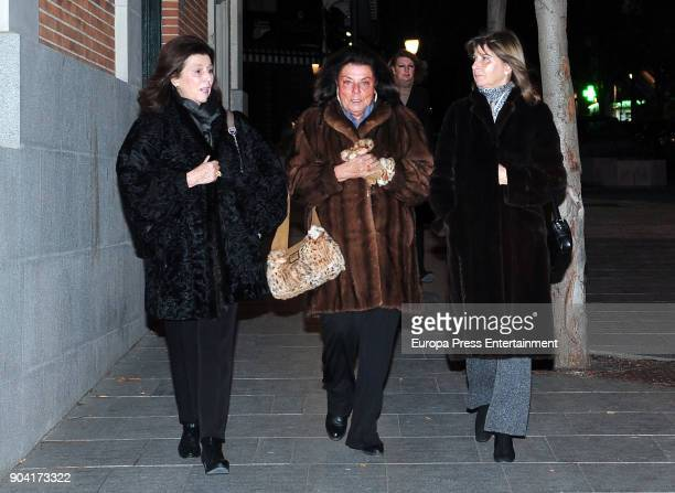 Marquess Vega de Anzo Pilar Gonzalez del Valle attends the funeral mass for Carmen Franco daughter of the dictator Francisco Franco at the Francisco...