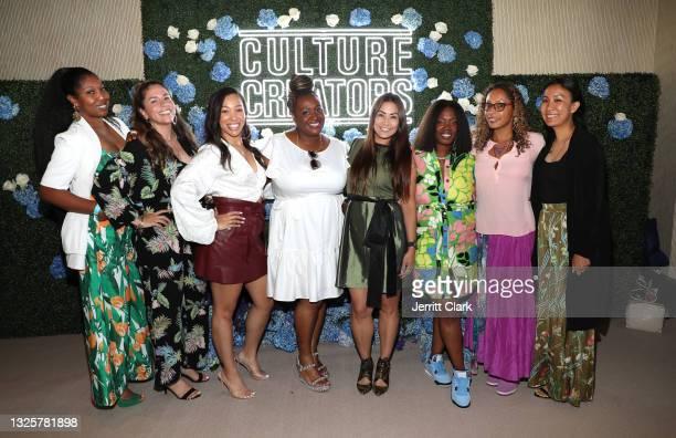 Marquetta Moore, Erika Montez, Sierra Lever, Mjeema Pickett, Sarah K, Phylicia Fant, Sing Lathan and Caroline Yim attend the Culture Creators...