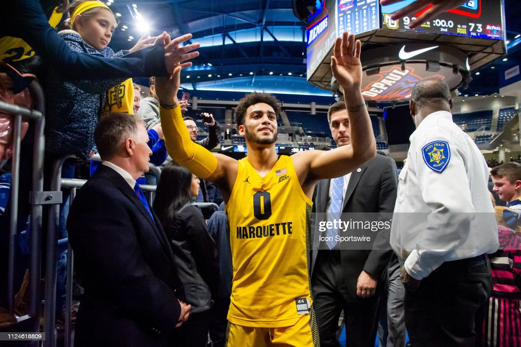 COLLEGE BASKETBALL: FEB 12 Marquette at DePaul : News Photo