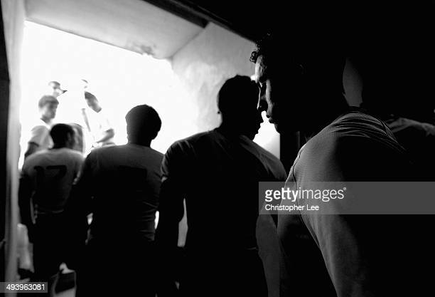 Marquinhos of Brazil looks in thought while in the tunnel as he enters the pitch during the Toulon Tournament Group B match between Brazil and...