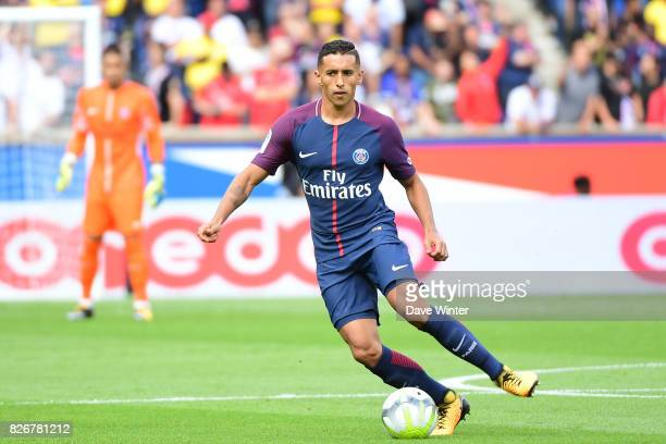 Marquinhos of PSG during the Ligue 1 match between Paris Saint Germain and Amiens SC at Parc des Princes on August 5 2017 in Paris France