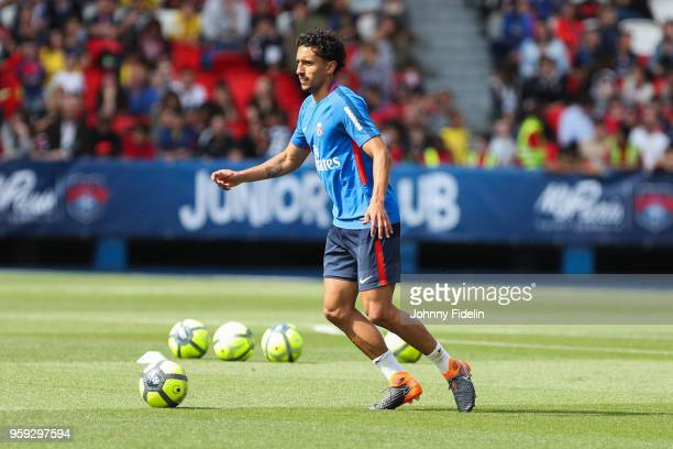 Marquinhos of PSG during the training session of Paris Saint Germain at Parc des Princes on May 16 2018 in Paris France
