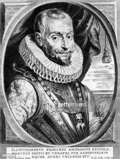 marquis Ambrogio de Spinola italian warrior who fought for Spain against Dutchs engraving