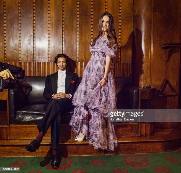 Marquis Giorgio Sanjust di Teulada and Princesse Melusine Ruspoli are photographed for Vanity Fair Magazine on November 29 2013 at the Automobile...