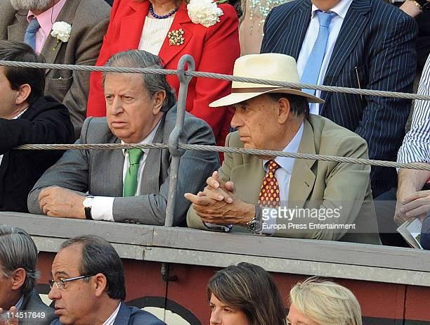Marquis of Cubas Fernando Falco and marquis of Grinon Carlos Falco attend 'San Isidro' bullfights season 2011 at Plaza de Toros de Las Ventas on May...