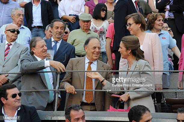 Marquis of Cubas Fernando Falco marquis of Grinon Carlos Falco and Princess Elena of Spain attend San Isidro Bullfight 2012 Fair on May 16 2012 in...
