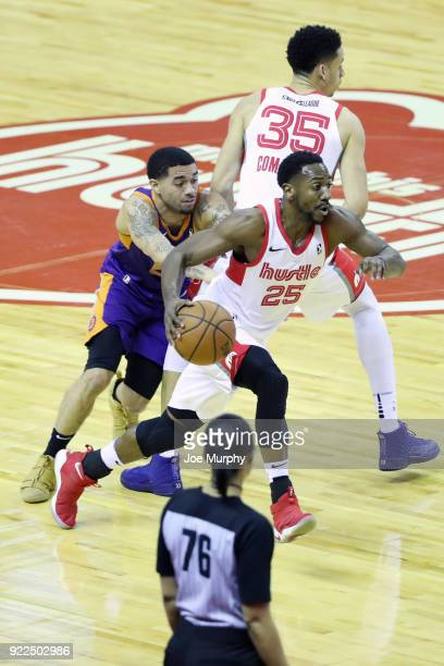 Marquis Teague of the Memphis Hustle handles the ball against the Northern Arizona Suns during an NBA GLeague game on February 21 2018 at Landers...