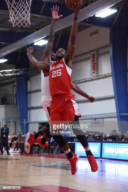 Marquis Teague of the Memphis Hustle handles the ball during the NBA GLeague Showcase Game 25 between the Memphis Hustle and the Maine Red Claws on...