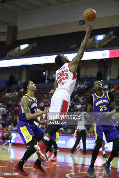 Marquis Teague of the Memphis Hustle shoots the ball against Santa Cruz Warriors during an NBA GLeague game on March 10 2018 at Landers Center in...