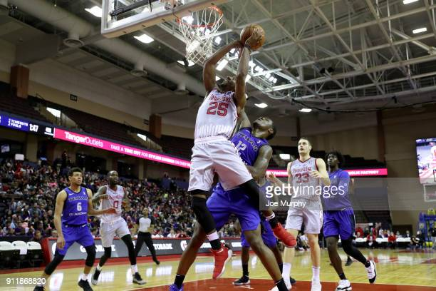 Marquis Teague of the Memphis Hustle shoots the ball against the Texas Legends during an NBA GLeague game on January 29 2018 at Landers Center in...