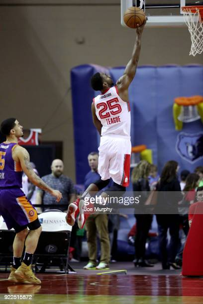 Marquis Teague of the Memphis Hustle shoots the ball against the Northern Arizona Suns during an NBA GLeague game on February 21 2018 at Landers...