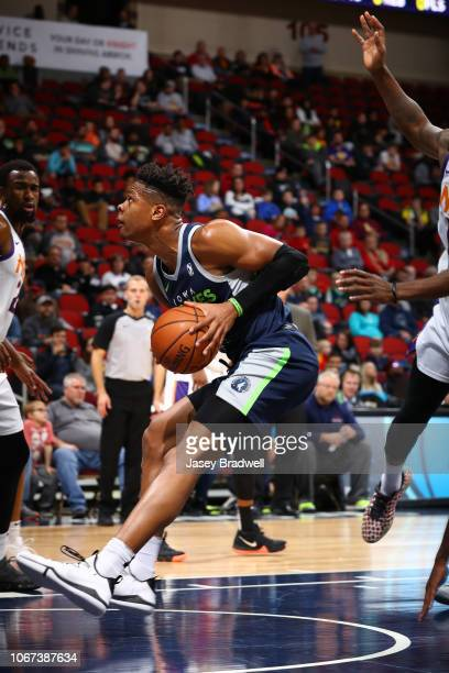 Marquise Moore of the Iowa Wolves drives in the paint against the Northern Arizona Suns in an NBA GLeague game on December 1 2018 at the Wells Fargo...