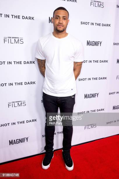 Marquise Pryor attends Magnify and Fox Sports Films' Shot In The Dark premiere documentary screening and panel discussion at Pacific Design Center on...