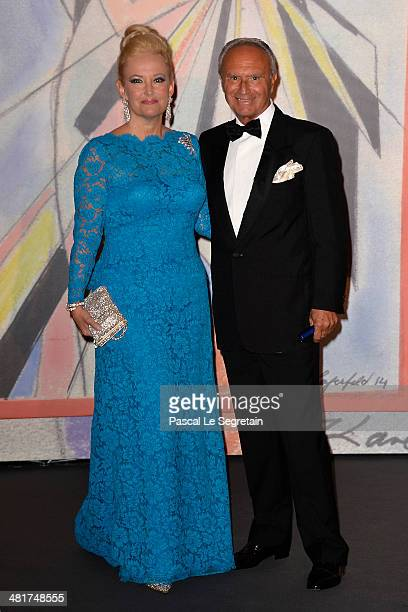 Marquise Roberta Gilardi and Donato Sestito attend the Rose Ball 2014 in aid of the Princess Grace Foundation at Sporting Monte-Carlo on March 29,...