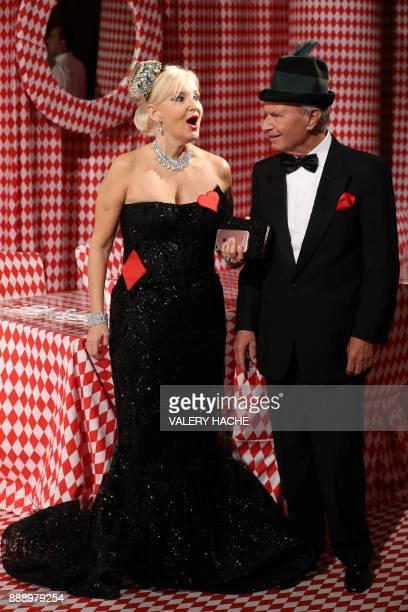 Marquise Roberta Gilardi Sestito and her husband Donato Sestito arrive for a Surrealist Dinner Party at the Monte Carlo Casino in Monaco on December...