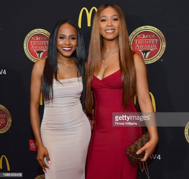 Marquita Goings and Skye Townsend attend 2019 Trumpet awards at Cobb Energy Performing Arts Center on January 19 2019 in Atlanta Georgia