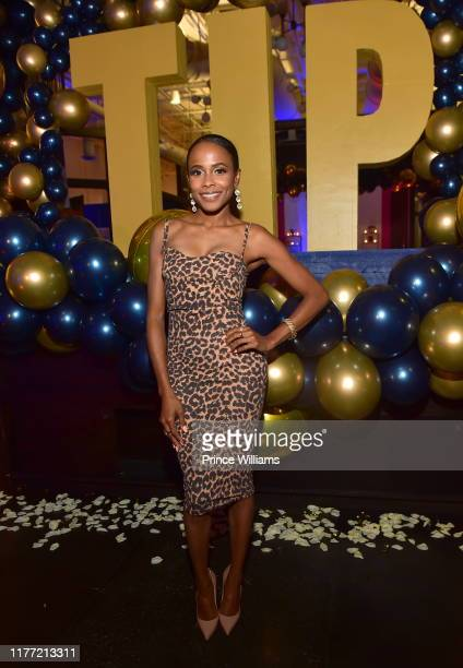 Marquita Goings attends A Private Birthday Celebration Honoring TIP at The Brasserie Atlanta on September 25 2019 in Atlanta Georgia