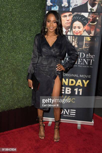 Marquita Goings attends Behind The Movement Los Angeles Premiere at Harmony Gold Theatre on February 7 2018 in Los Angeles California