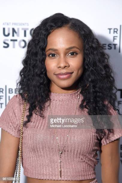 Marquita Goings attends the after party for Nigerian Prince hosted by ATT at Magic Hour Rooftop Bar Lounge during the 2018 Tribeca Film Festival on...