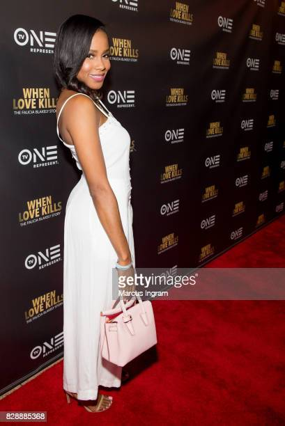 Marquita Goings attends the When Love Kills The Falicia Blakely Story movie screening at Regal Atlantic Station on August 9 2017 in Atlanta Georgia