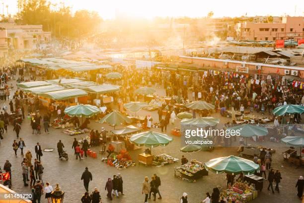 Marrakech - Djemaa El Fna plein