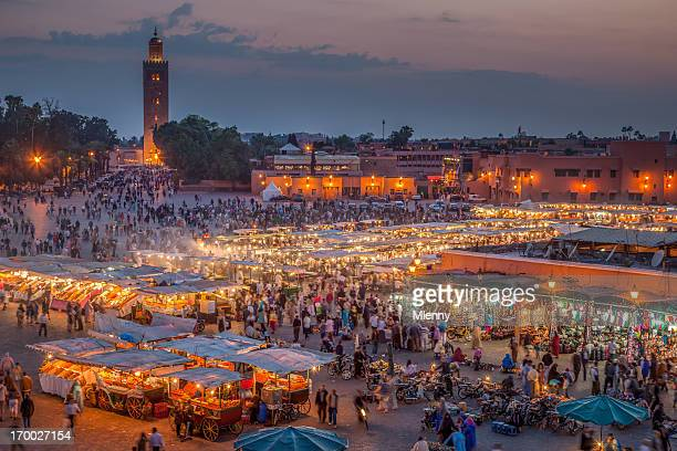 Marrakech Djemma El Fna Square by Night