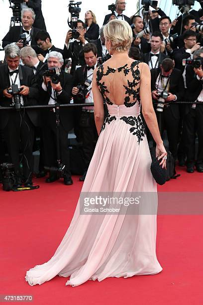 Marrakech film festival director Melita Toscan du Plantier attends the opening ceremony and premiere of La Tete Haute during the 68th annual Cannes...