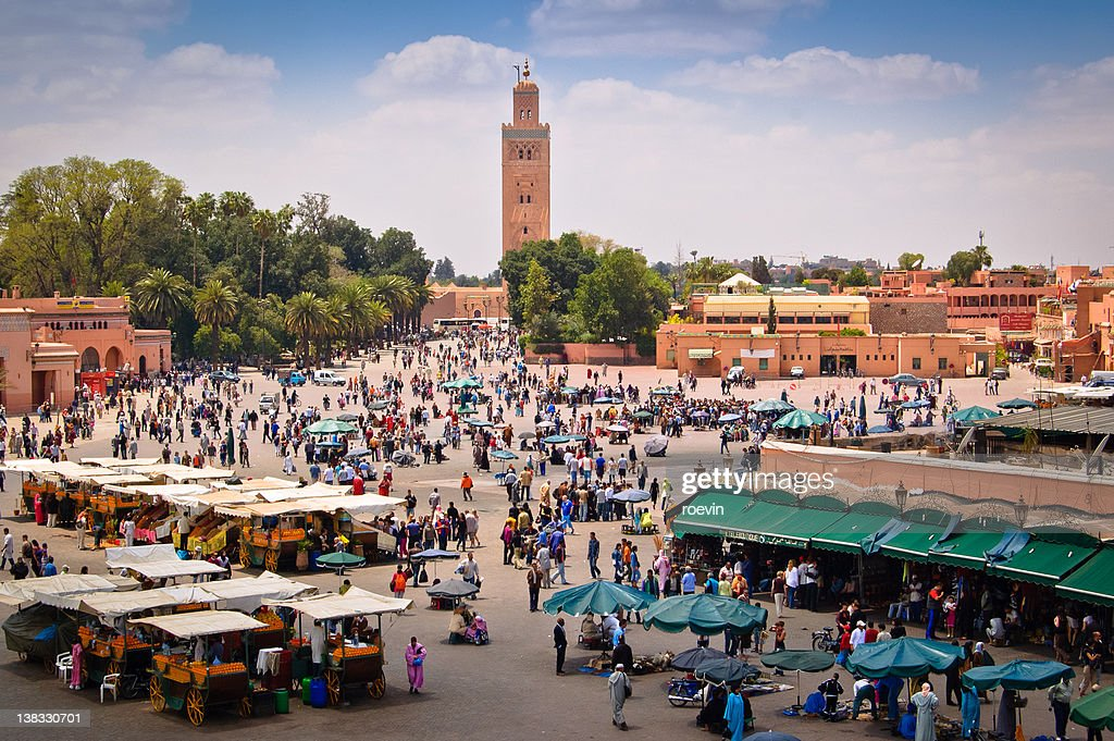 Marrakech market square : Stock Photo