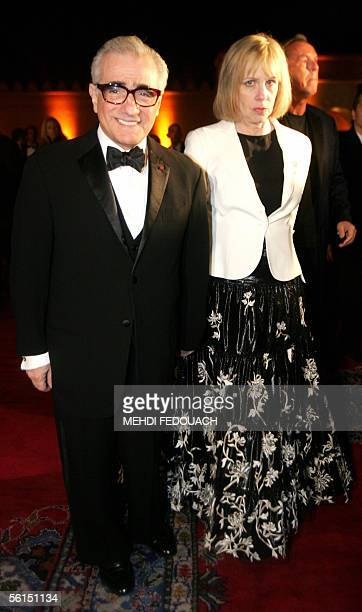 US Film director Martin Scorsese arrives with his wife Helen Morris during the night of 12 to 13 November 2005 in one of Marrakech's royal palaces...
