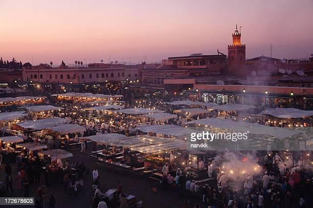 Marrakesh am Abend, Djemaa el Fna-Platz