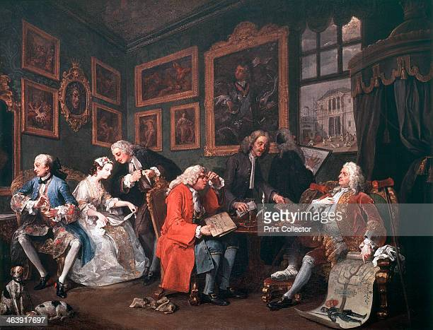 'Marriage a la Mode 1 The Marriage Contract' 1743 The ageing Earl Squander proud of his family tree but in need of money to maintain his position is...