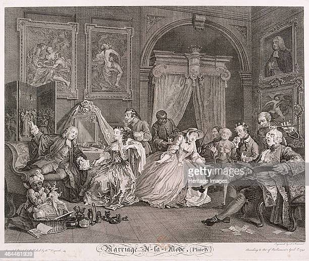 'Marriage a la Mode' 1745 plate IV The wife is in her boudoir talking with counsellor Silvertongue She is now a countess and a mother but she is...
