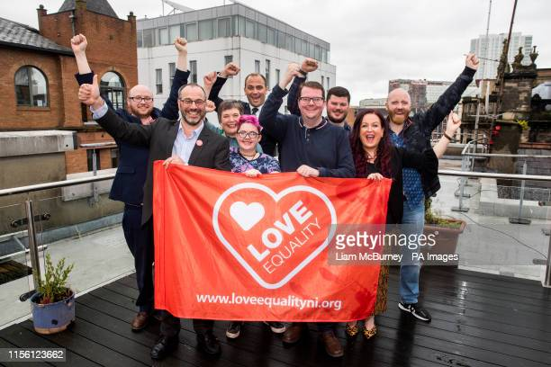 Marriage equality campaigners Adam Murray Patrick Corrigan Clare Moore Lucas Finch Ciaran Moynagh meet with Conor McGinn MP with fellow campaigners...