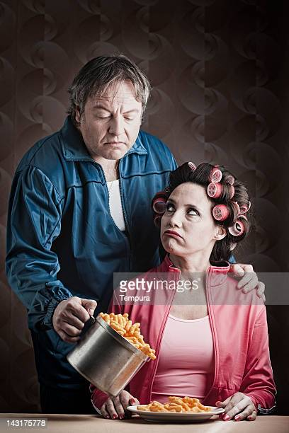 Marriage failure _ husband with frustrated wife.