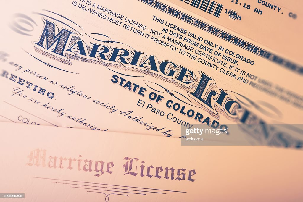 Marriage License : Stock Photo