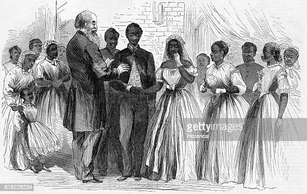 Marriage of a Colored Soldier at Vicksburg by Chaplain Warren of the Freedmen's Bureau.