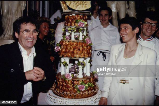 Marriage of French singer and songwriter Claude Nougaro with Helene Nougaro in Toulouse.
