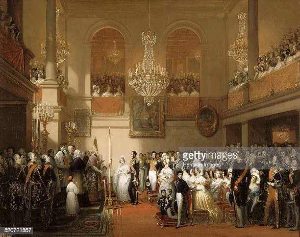 Marriage of Leopold I of the Belgians and Princess Louise of Orléans at the Château de Compiègne August 9 1832 Found in the collection of Musée de...