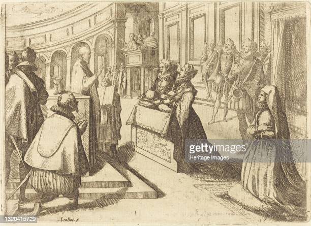 Marriage of Margaret of Austria and Philip III, 1612. Artist Jacques Callot.