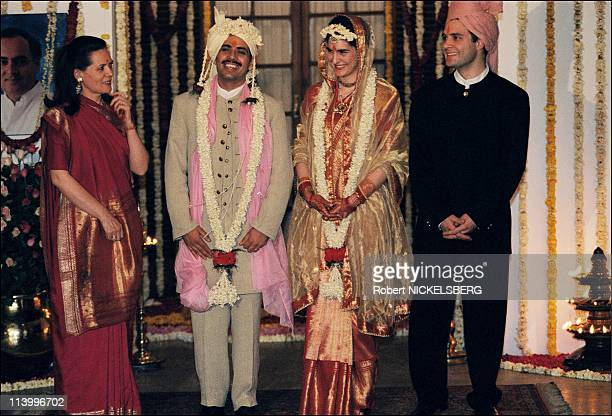 Marriage of Priyanka Gandhi In New Delhi, India On February 18, 1997.