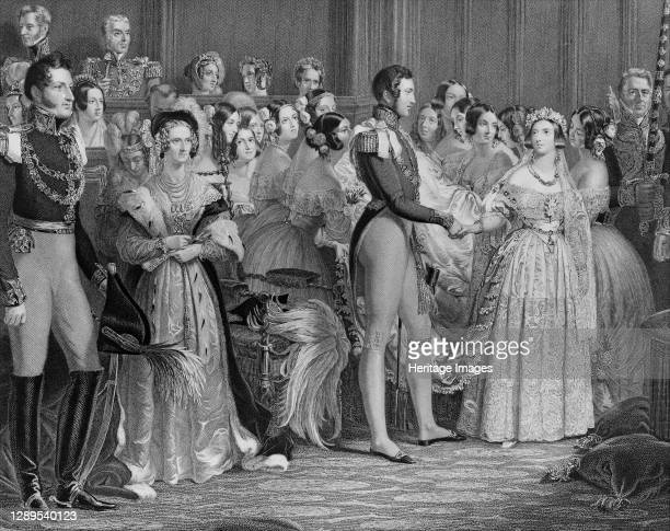 Marriage of Queen Victoria, February 10 1844. Artist Charles Eden Wagstaff.